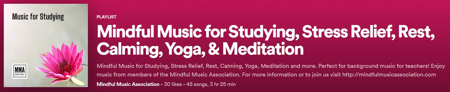 Mindful Music Association, Music for studying
